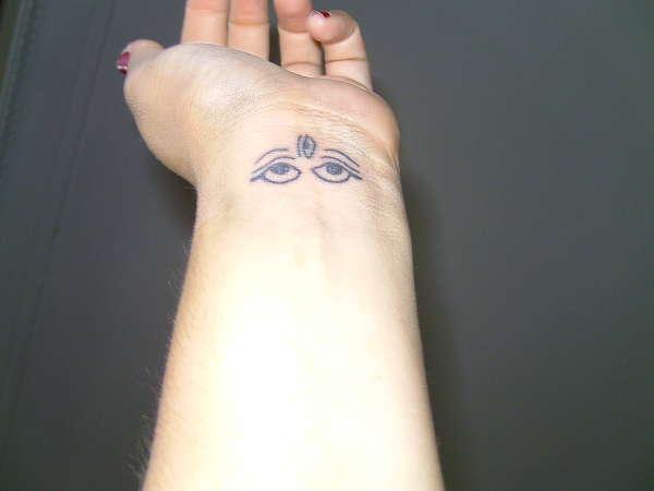 Third Eye Symbol Tattoo