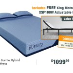 Blue Burrito Hybrid Memory Foam King Size Mattress Rc Willey Furniture Store