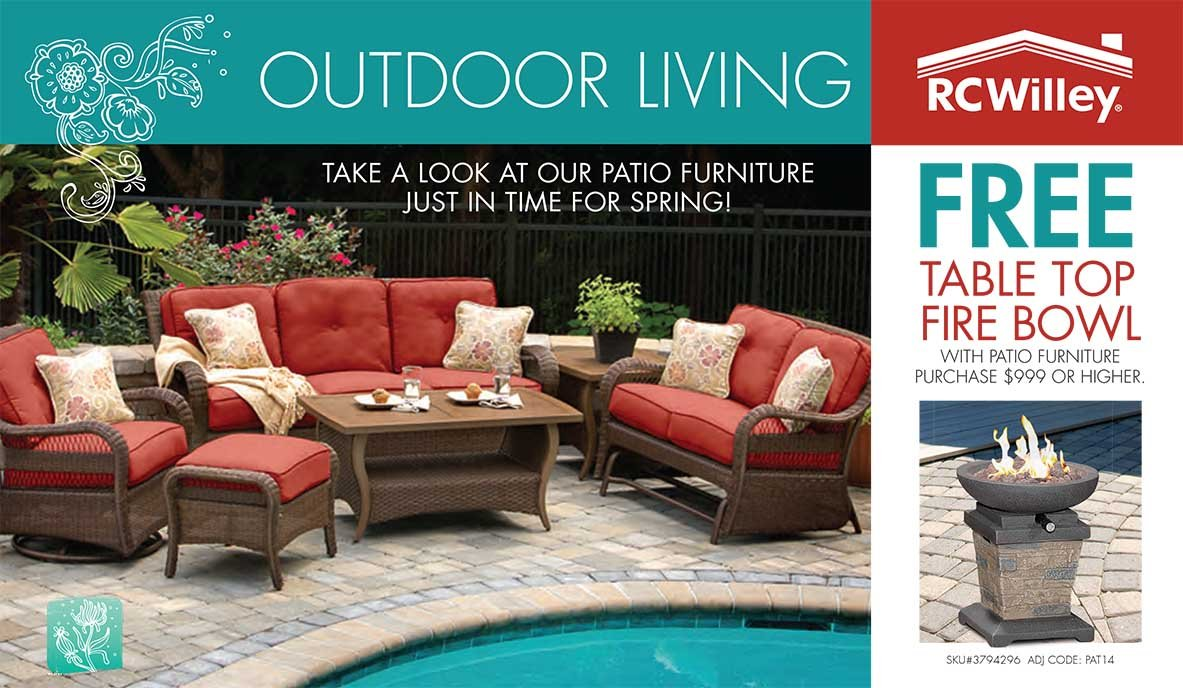 Outdoor Living - Spring Patio Catalog   RC Willey ... on Outdoor Living Shop id=16181