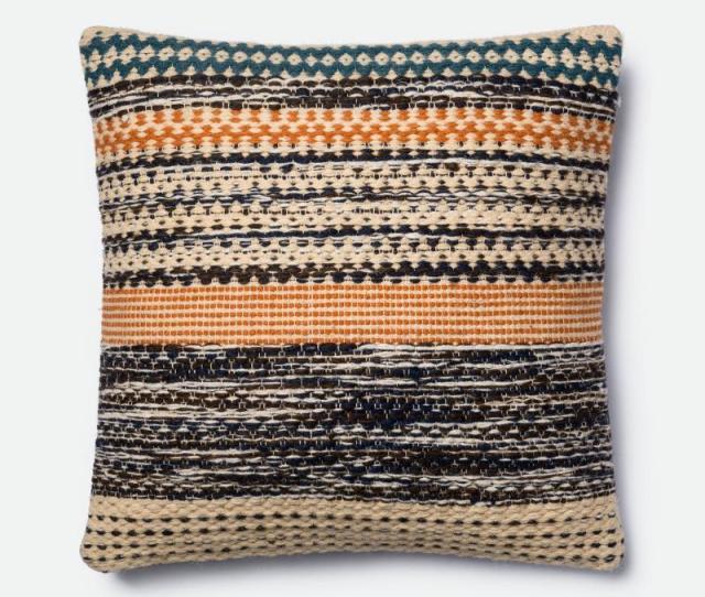 Magnolia Home Furniture Orange And Blue Throw Pillow