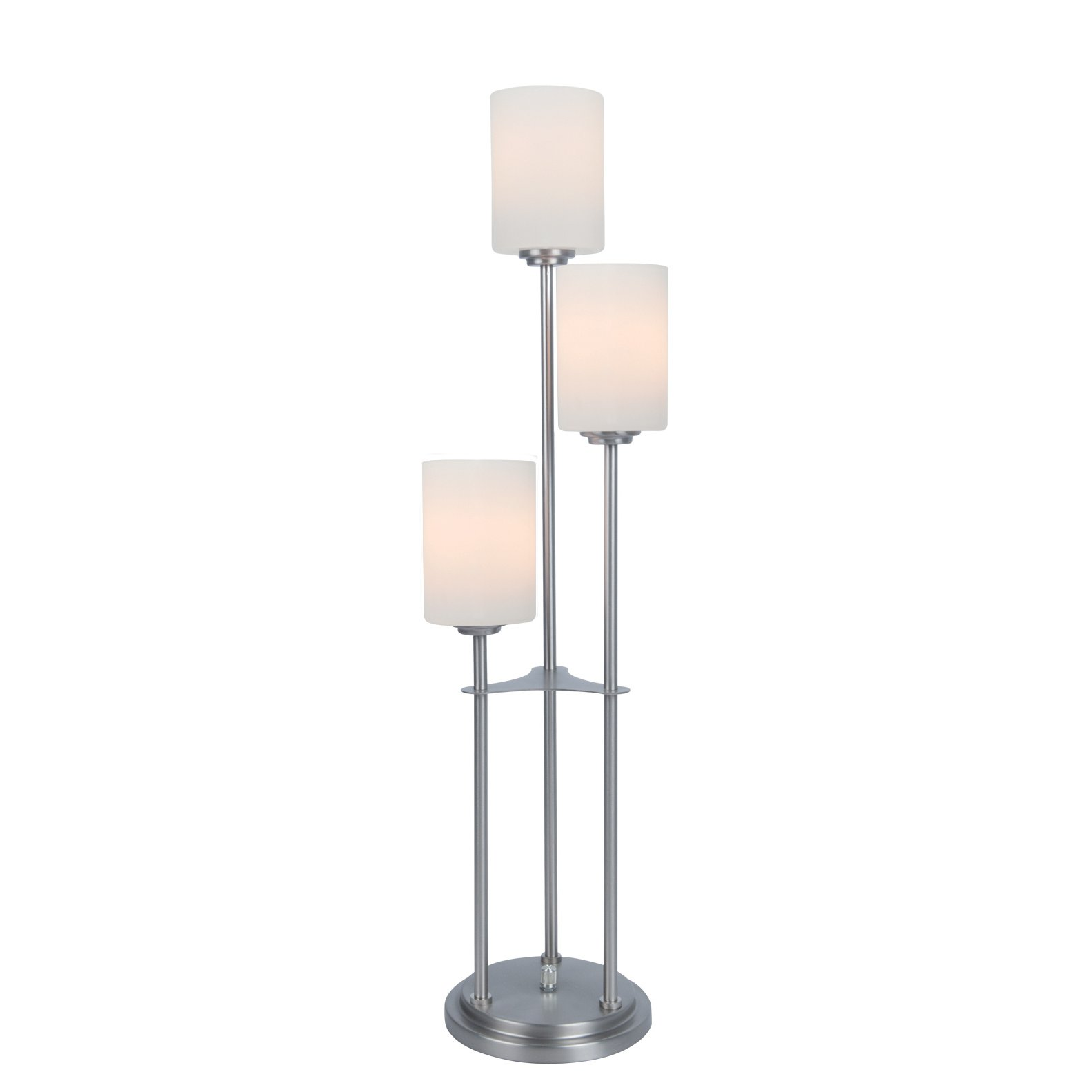 Brushed Nickel Metal Staggered 3 Light Table Lamp Bess Rc Willey Furniture Store