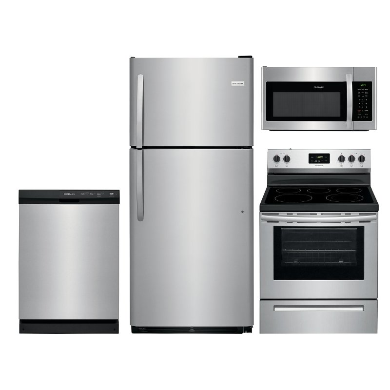 Frigidaire 4 Piece Kitchen Appliance Package With Electric Range Stainless Steel RC Willey