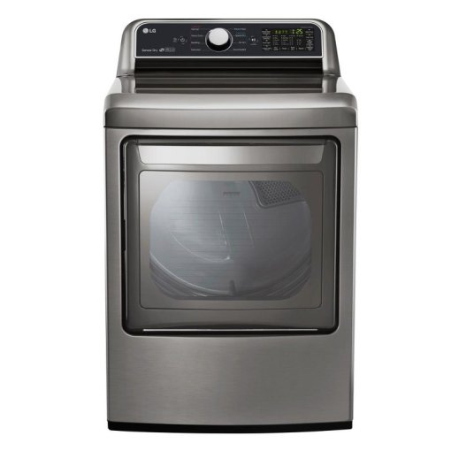 LG Electric Dryer with Sensor Dry Technology   7 3 cu  ft  Graphite     LG Electric Dryer with Sensor Dry Technology   7 3 cu  ft  Graphite Steel    RC Willey Furniture Store