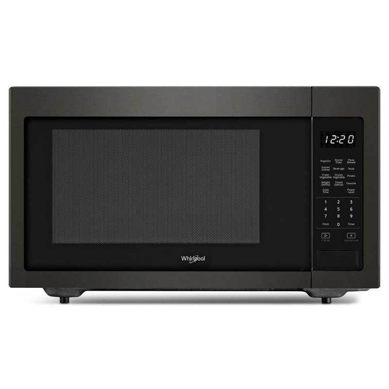 whirlpool countertop microwave 1 6 cu ft black stainless steel rc willey furniture store
