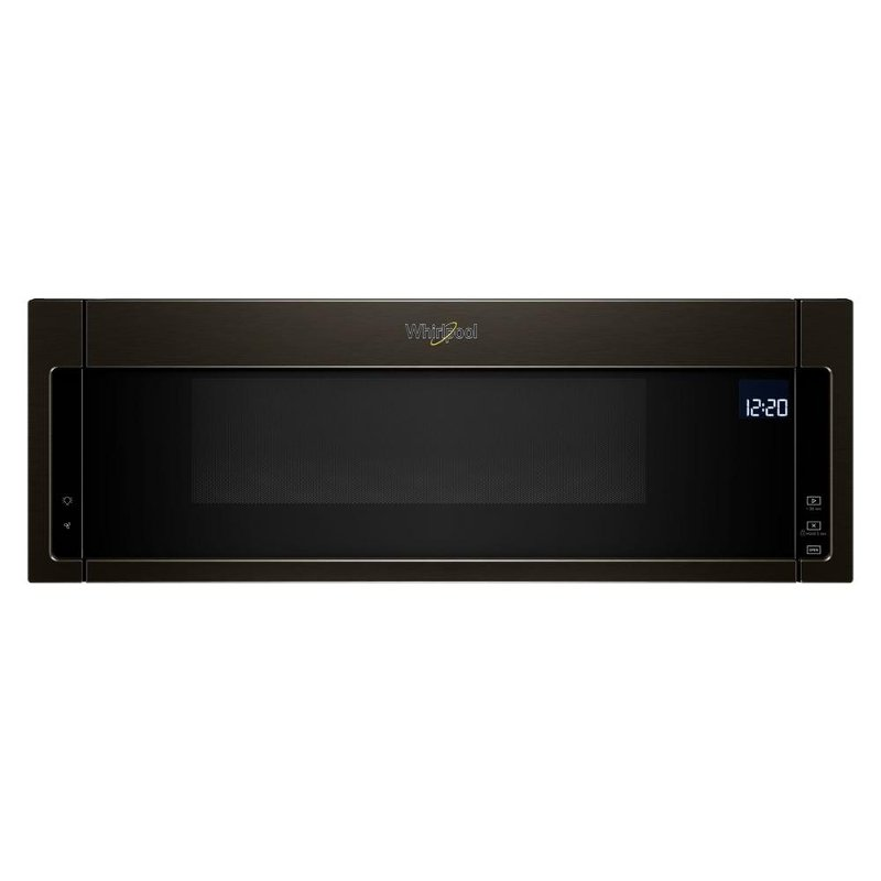 whirlpool low profile over the range microwave with sensor cook black stainless steel rc willey furniture store
