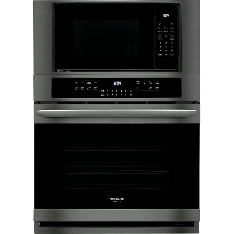 frigidaire gallery 30 inch combination wall oven with microwave black stainless steel rc willey furniture store