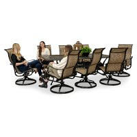 9 piece swivel chair patio dining set montreal