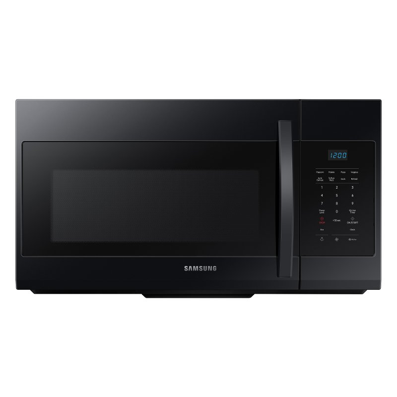 samsung over the range microwave 1 7 cu ft black rc willey furniture store