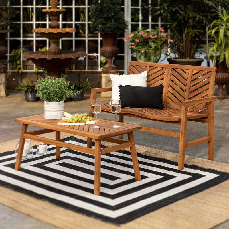 light brown 2 piece patio chair set rc willey furniture store