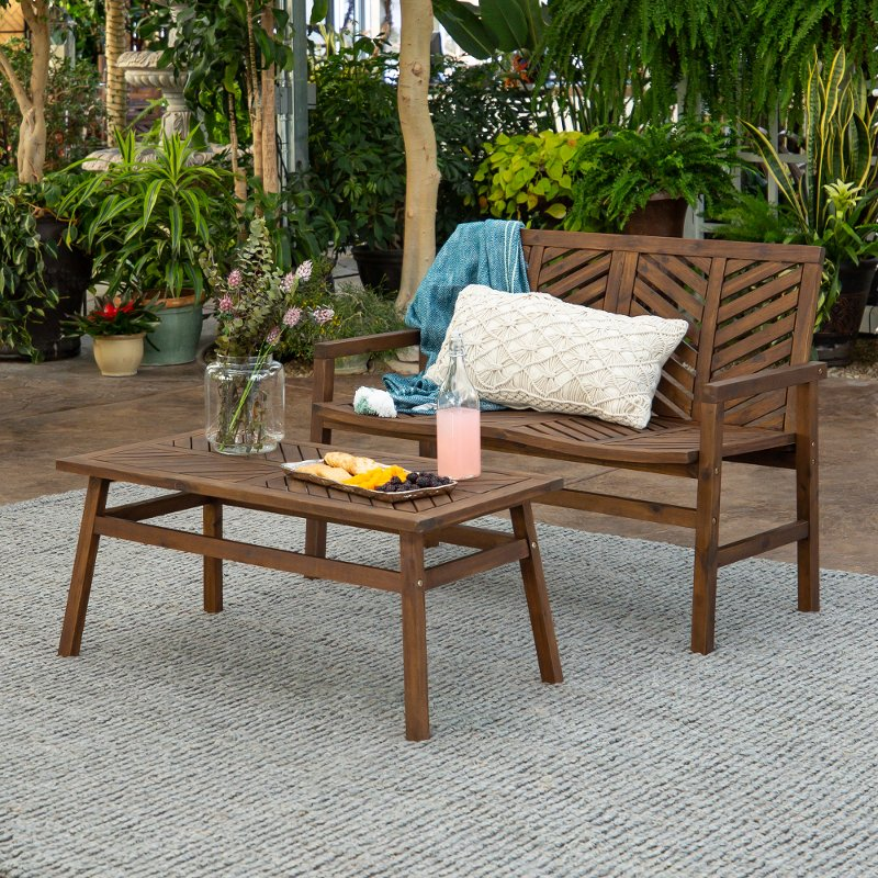 dark brown 2 piece patio chair set rc willey furniture store