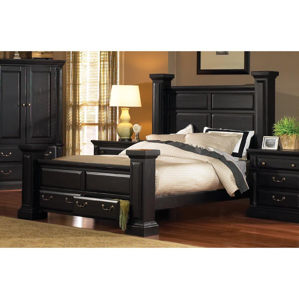 Torreon Black 6 Piece King Bedroom Set