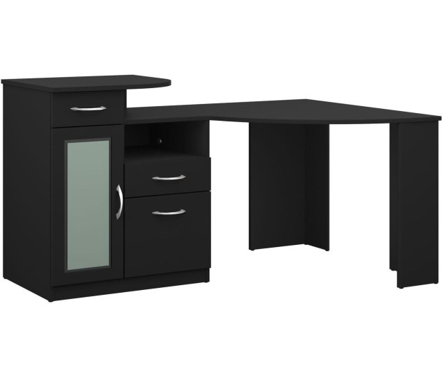 Black Corner Home Office Computer Desk Vantage Rc Willey Furniture Store