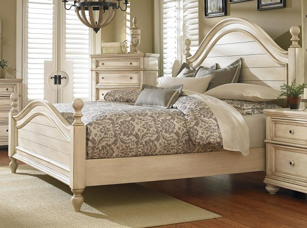 Antique White 6 Piece Queen Bedroom Set - Heritage | RC ...