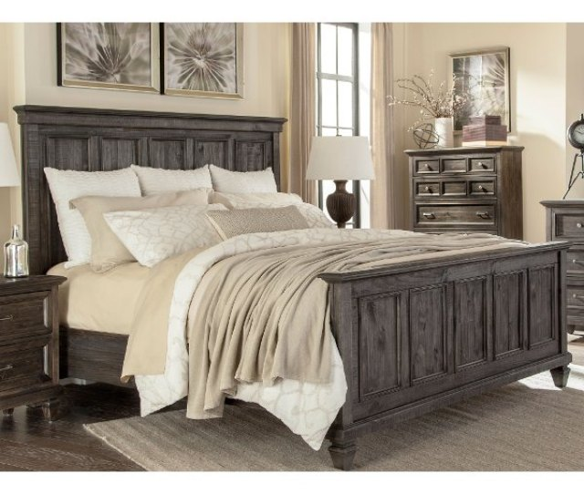 Classic Charcoal Gray King Size Bed Calistoga