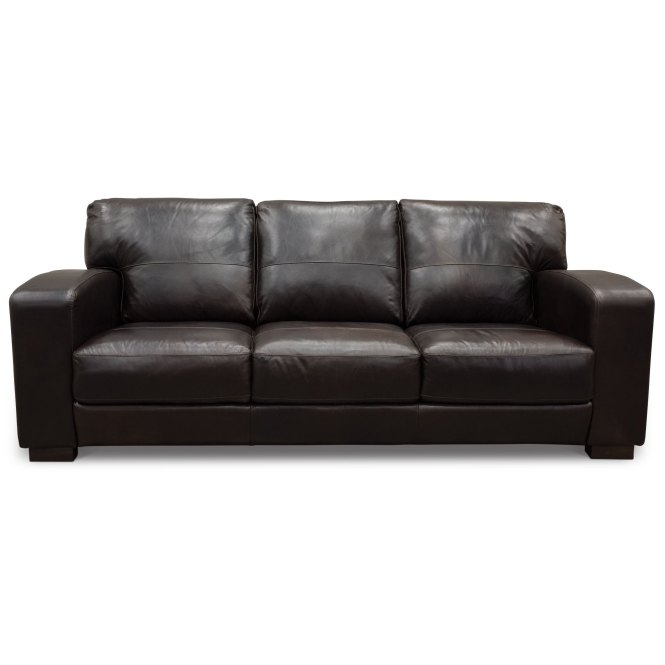 Image Of Mid Century Modern Leather Sofa Brown