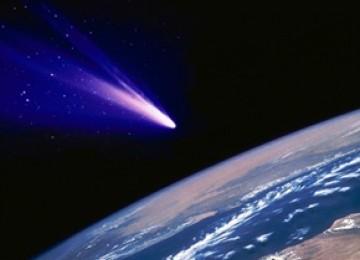 Benda langit yang akan menabrak bumi (ilustrasi).