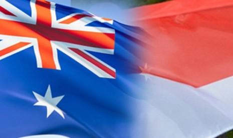 Bendera Australia dan Indonesia. Ilustrasi.