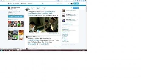 Cuitan Salahuddin Wahid di media twitter
