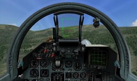 Simulator pesawat jet tempur