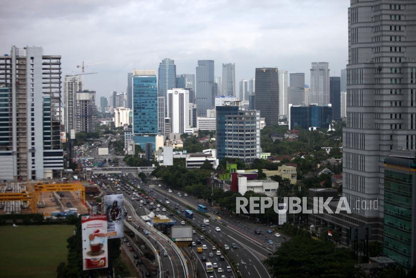 Deretan gedung-gedung perkantoran di Jakarta. ilustrasi