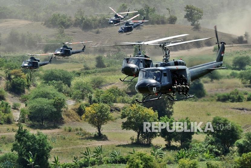 Helikopter Bell 412 milik Pusat Penerbangan Angkatan Darat (Puspenerbad) TNI AD.