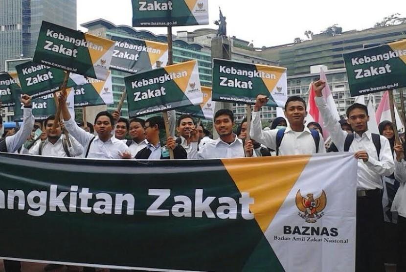 Kampanye kemandirian zakat oleh Baznas.