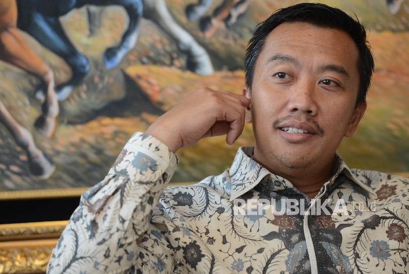 Menteri Pemuda dan Olahraga Imam Nahrawi saat ditemui di ruang kerjanya, Jakarta, Kamis (2/3).