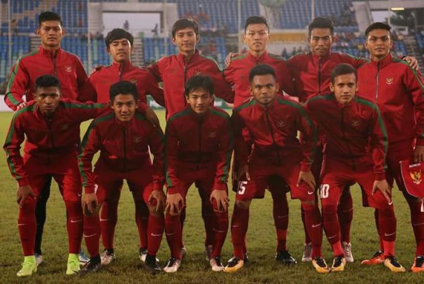 Skuat timnas Indonesia U-19 yang berlaga di Piala AFF U-18 2017.
