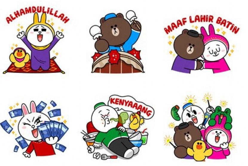 Sambut Lebaran Line Rilis Stiker Animasi Republika Online