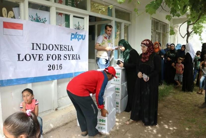 Tim PKPU kembali menyalurkan bantuan untuk korban konflik di Suriah.