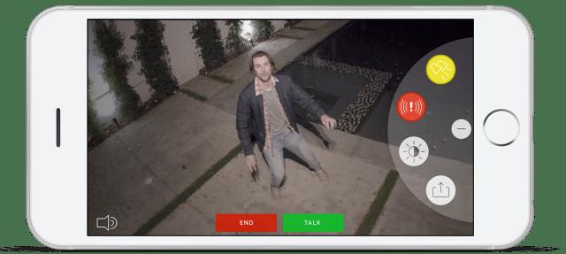 Application smartphone de Ring floodlight spotlight