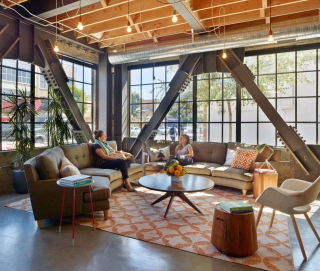 Thumbtacks Sf Office Lobby Looks Like A Comfortable Living Room