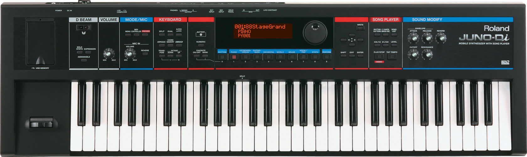 Roland - JUNO-Di | Mobile Synthesizer with Song Player