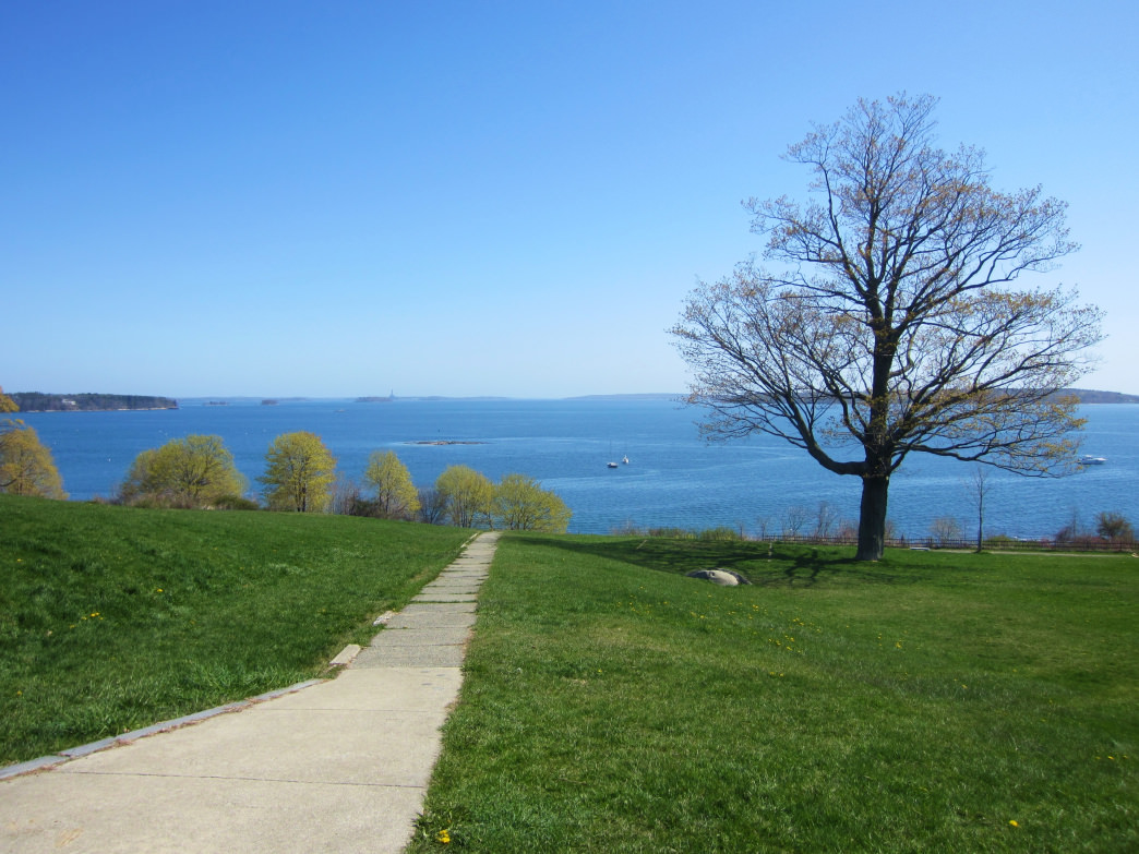 The Eastern Promenade is easily accessible from downtown, and is a popular spot for locals.