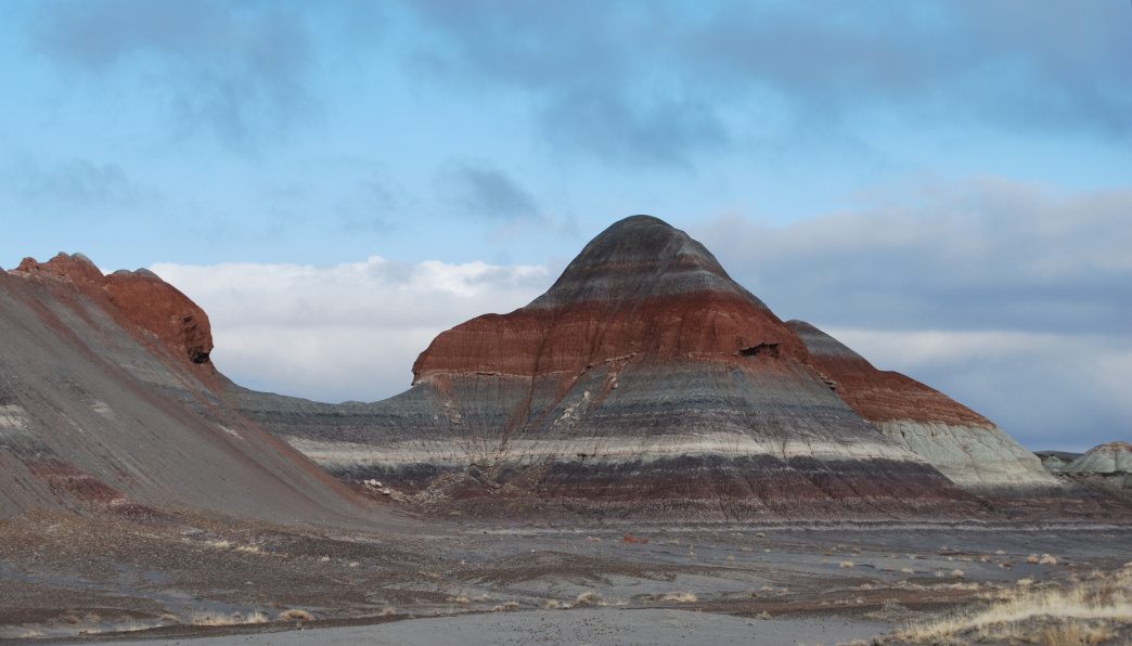 The painted hills at Petrified Forest National Park.