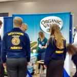 FFA Students at an Organic Valley Booth