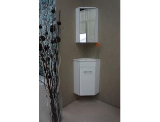 exellence lena meuble d angle pour lavabo wc 50x85x25cm avec 1 trou pour robinetterie et armoire toilette blanc
