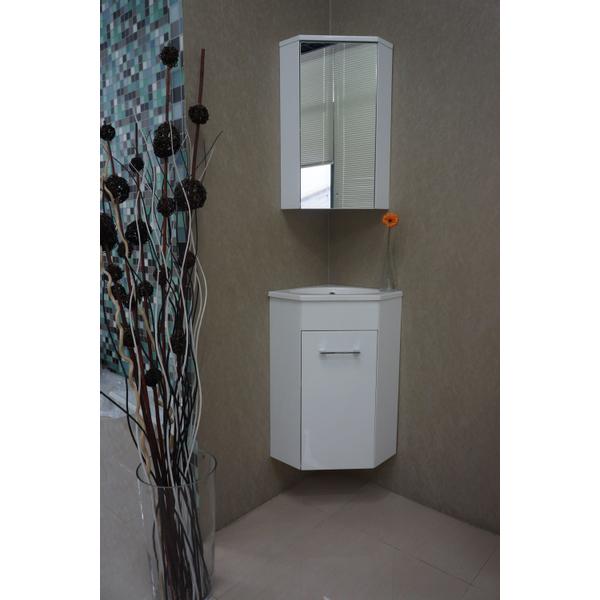 Exellence Lena Meuble D Angle Pour Lavabo Wc 50x85x25cm Avec 1 Trou Pour Robinetterie Et Armoire Toilette Blanc 38 3805 Sawiday Fr