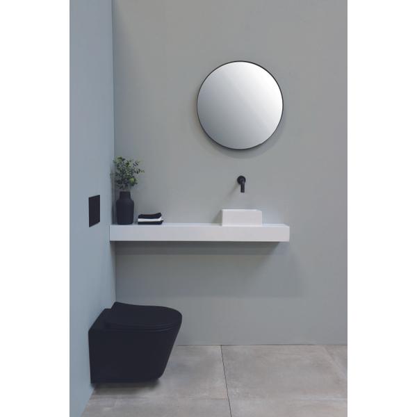 ink sp15 sp15 miroir rond 120cm noir mat