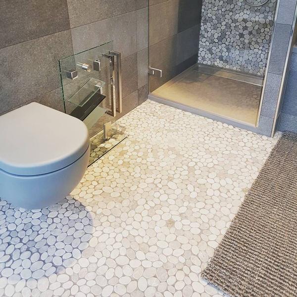 the mosaic factory natural carrelage mosaique 30x30cm pour mur et sol interieur et exterieur marbre ivoire