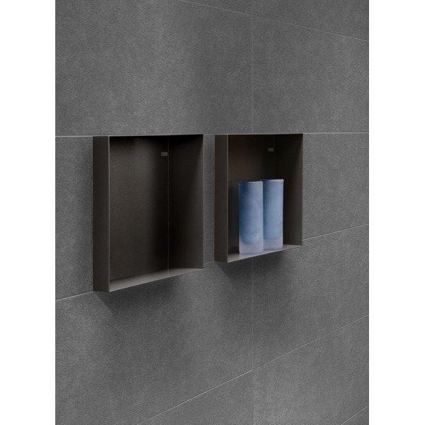 looox cbox niche de salle de bains 30x30x10cm noir mat