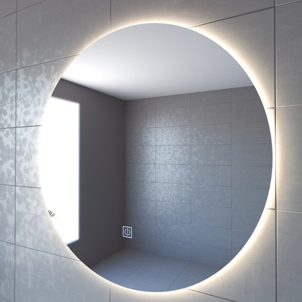 Adema Circle Miroir Salle De Bain Rond Diametre 100cm Avec Eclairage Led Indirect Chauffe Miroir Et Interrupteur Touch Jg1112 1000 Sawiday Fr