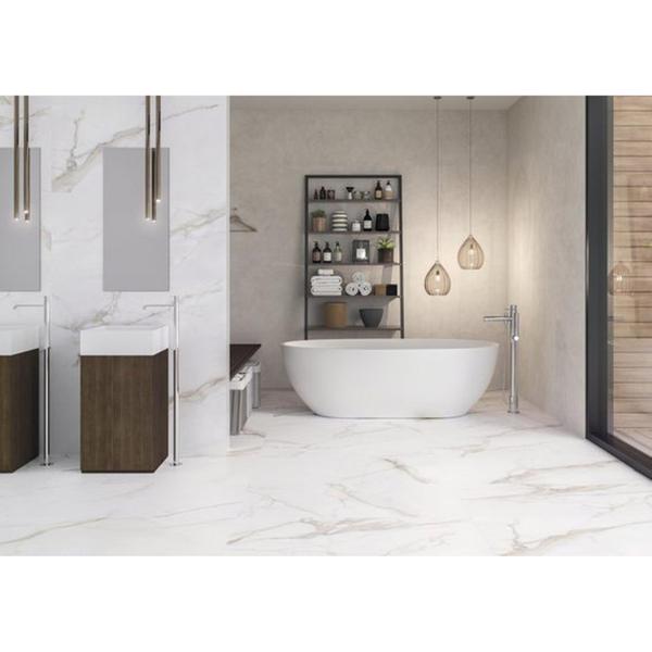 cifre ceramica diamond gold carrelage sol et mural blanc 60x60cm look marbre blanc mat
