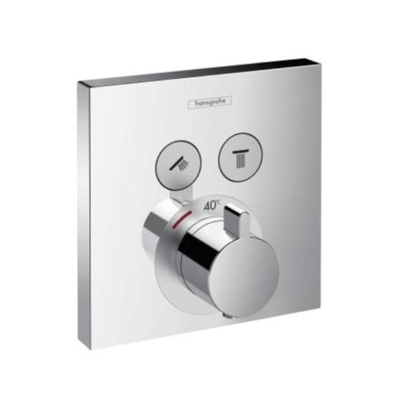 hansgrohe set de finition pour mitigeur thermostatique showerselect e encastre avec inverseur 2 voies chrome