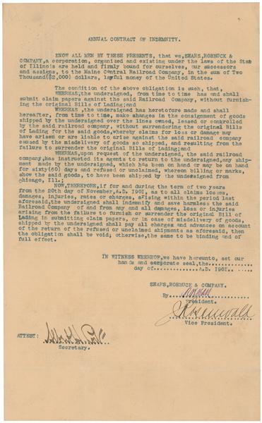 Rr Autograph Auctions Consignment Agreement: RR Autograph Auction Richard W. Sears