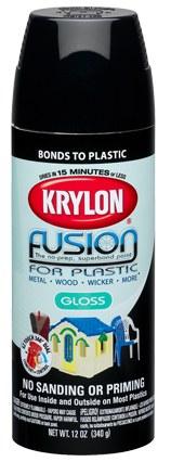 krylon fusion for plastic 24385 khaki satin paint 16 oz aerosol can 12 oz net weight 02438