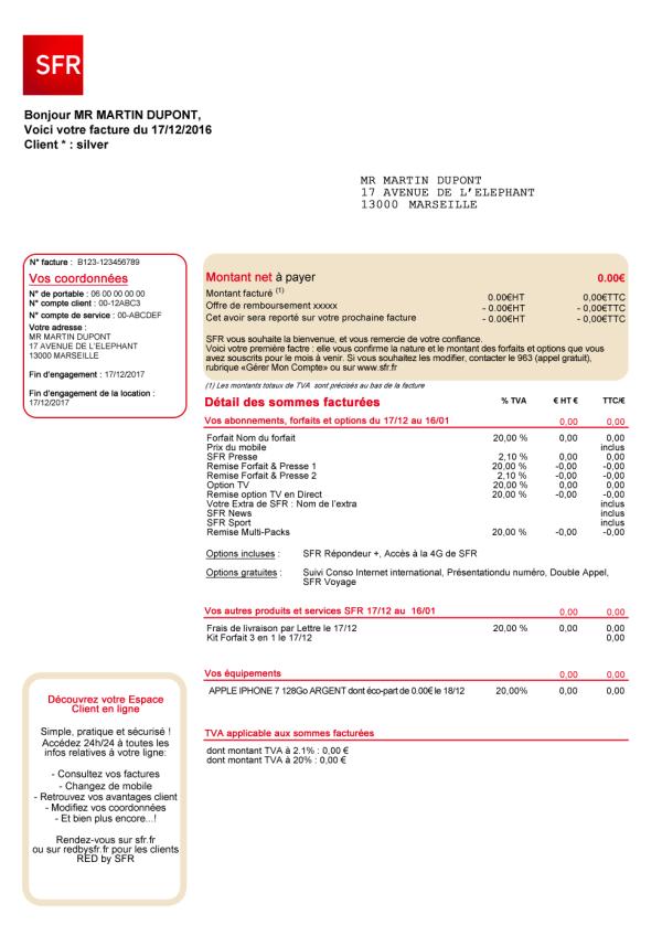 Guide facture Mobile SFR