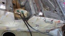 Tankbefestigung - nach dem kombinierten Strahlen