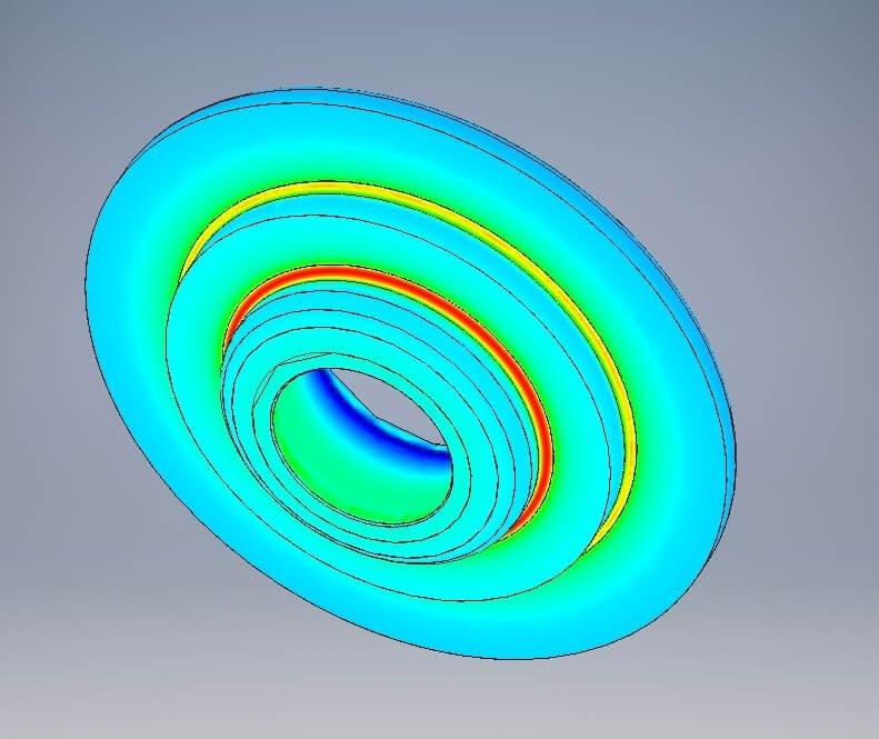 SRT BMW Ventilfederteller - Belastungsanalyse (FEM)