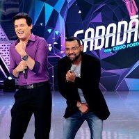 Celso Portiolli dança arrocha com Pablo no Sabadão